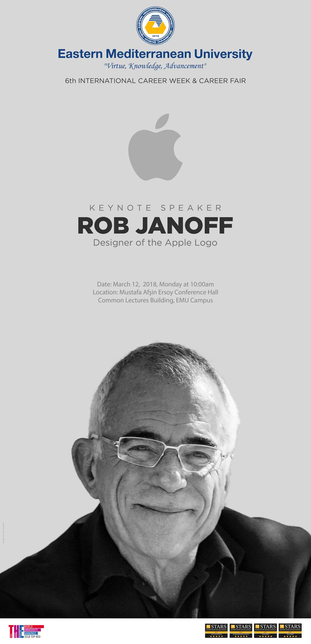 APPLE LOGO DESIGNER ROB JANOFF COMING TO EMU