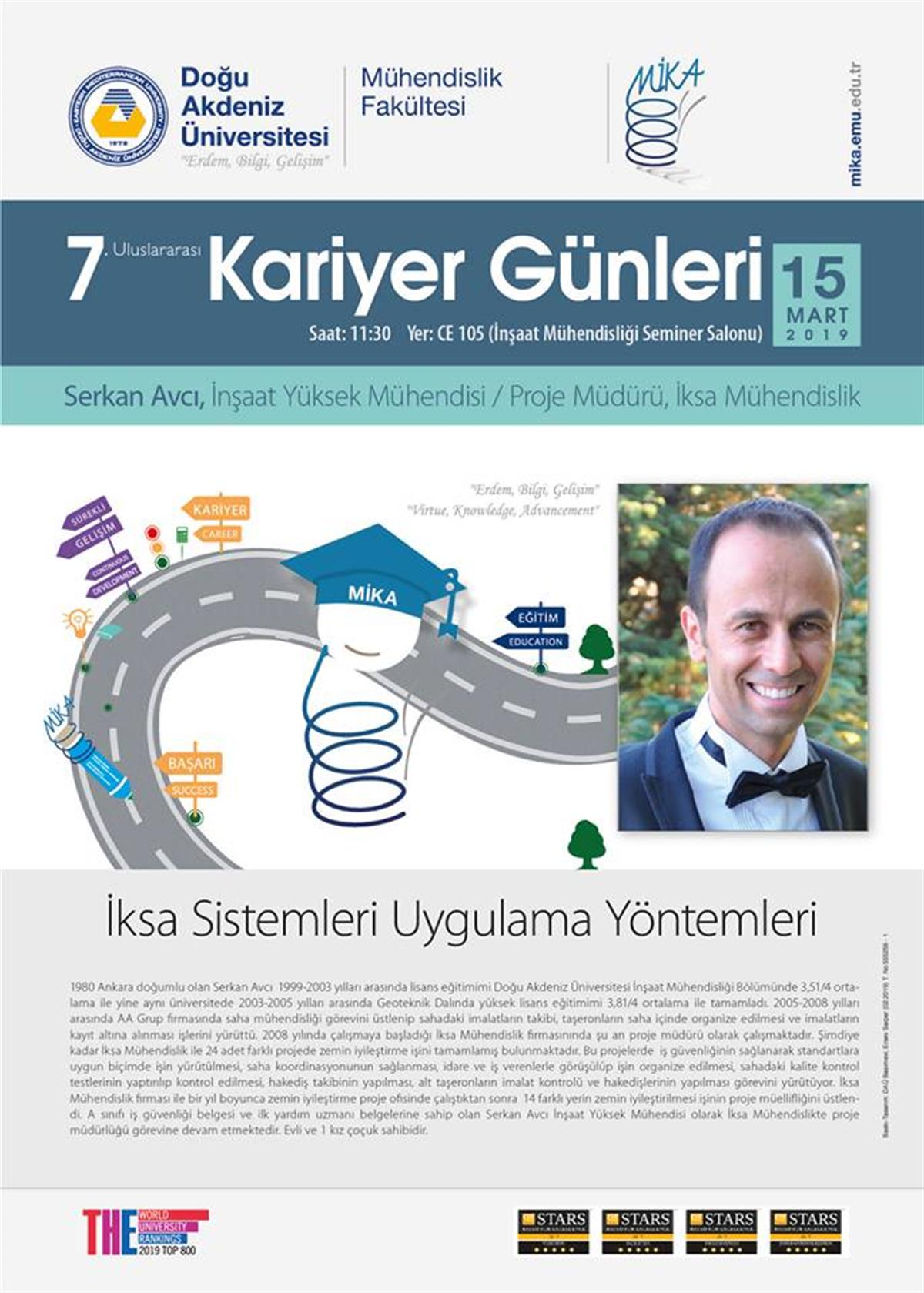 7th EMU International Career Days/ Civil Engineering Department: Serkan Avcı
