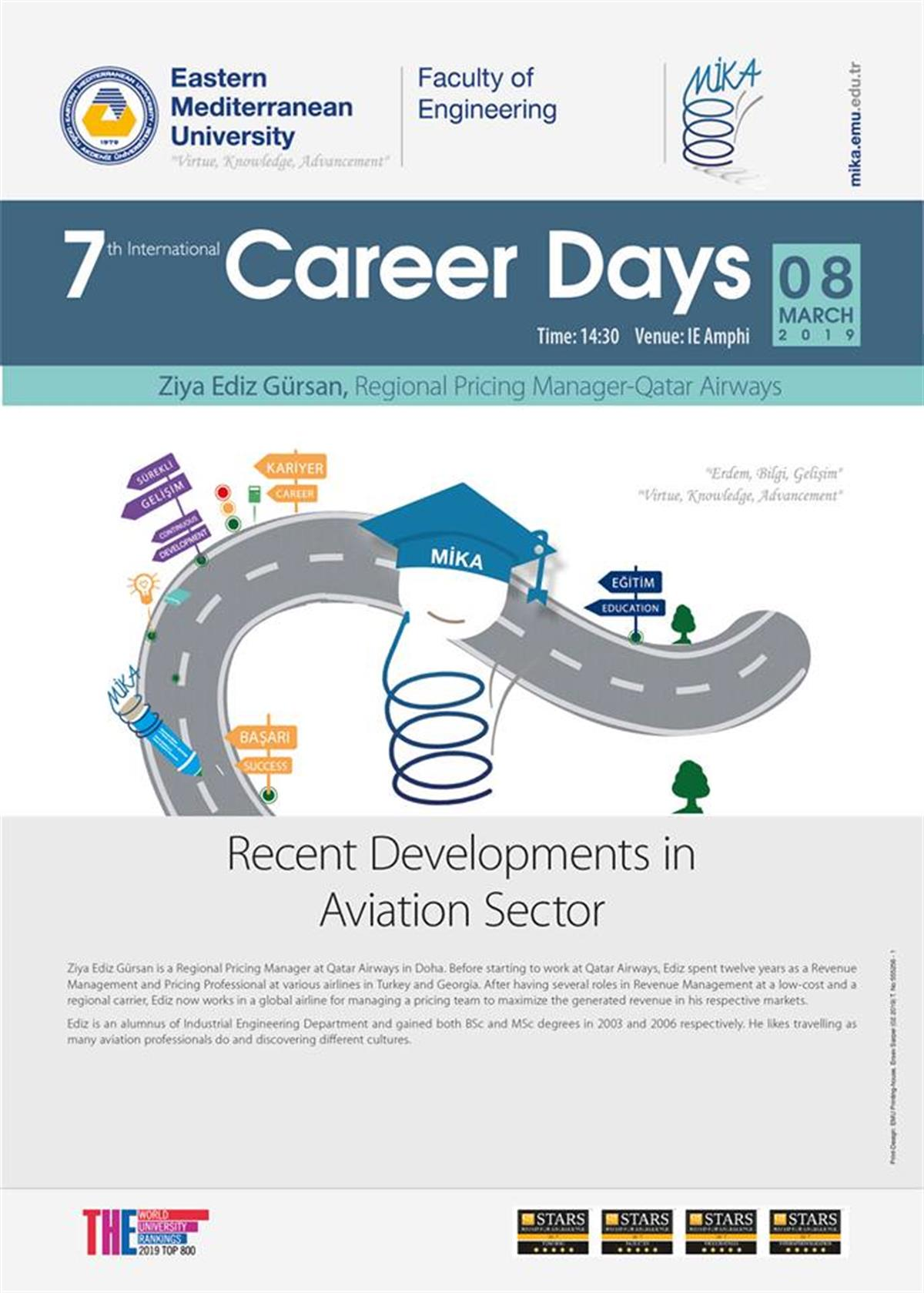 7th International Career Days - Department of Industrial Engineering Announcement