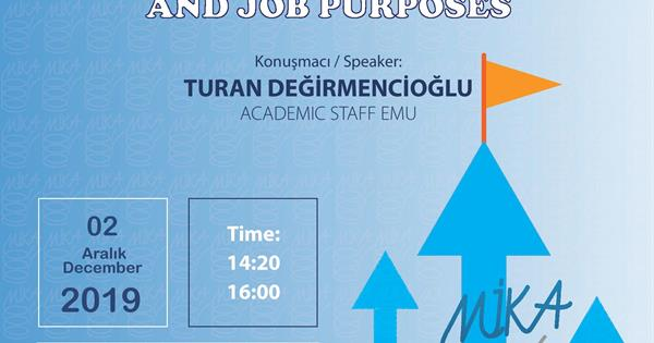 Mika Career Development Program (first day presentation- Turan Değirmencioğlu)