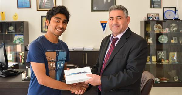 "EMU Social Media Unit Awards the Winner of the ""Being a Student in Cyprus"" Blog Competition"