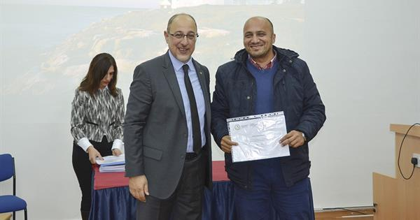 EMU Department of Civil Engineering Presents Certificates to Successful Students