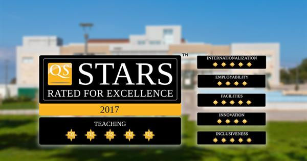 EMU Receives Five Stars From QS in the Teachıng Category