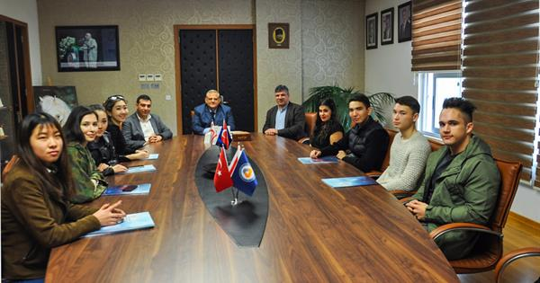EMU Rector Prof. Dr. Necdet Osam Received International Exchange Students