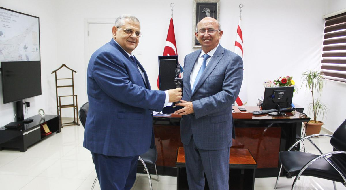 EMU Rector Visits TRNC Minister of Education Cemal Özyiğit